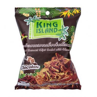 Чипсы кокосовые С ШОКОЛАДОМ 40гр (King Island)