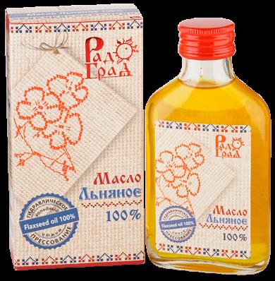 Масло ЛЬНЯНОЕ 100мл (Радоград)