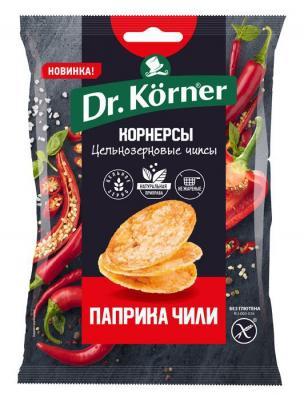 Чипсы кукурузно-рисовые С ПАПРИКОЙ И ЧИЛИ 50гр (Dr.Korner)