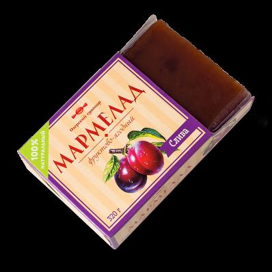 Мармелад фруктово-ягодный СЛИВА 320гр (Озерский Сувенир)