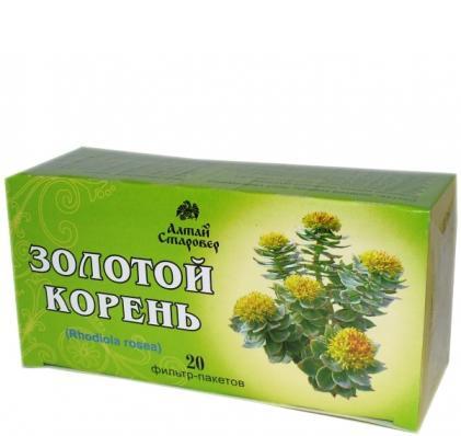 Золотой корень Родиола розовая 20ф/п (Алтай-Старовер)