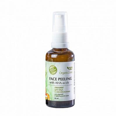 Пилинг для лица с АНА-кислотами для жирной и проблемной кожи 50мл (OrganicZone)