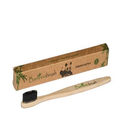 Зубная щетка ДЕТСКАЯ из бамбука с угольным напылением (Bamboobrush)