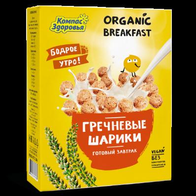 Готовый завтрак ГРЕЧНЕВЫЕ ШАРИКИ 100гр (Компас здоровья)