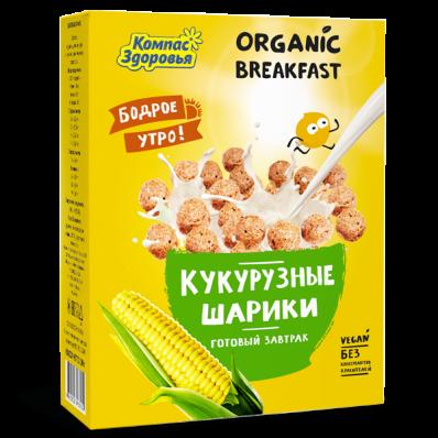 Готовый завтрак КУКУРУЗНЫЕ ШАРИКИ 100гр (Компас здоровья)
