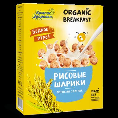 Готовый завтрак РИСОВЫЕ ШАРИКИ 100гр (Компас здоровья)