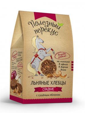 Хлебцы льняные с ЯБЛОКОМ 100гр (Полезный перекус)