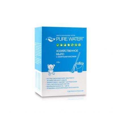 Мыло ХОЗЯЙСТВЕННОЕ с эфирными маслами 175гр (PURE WATER)