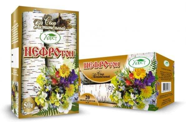 Сбор растительный НЕФРОТОН почечный 50гр (Хорст)