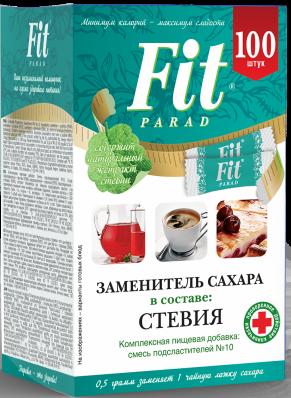 Заменитель сахара ФитПарад №10 100шт (ФитПарад)
