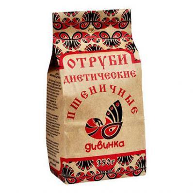 Отруби диетические ПШЕНИЧНЫЕ 350гр (Дивинка)