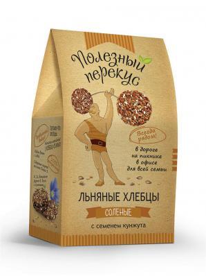 Хлебцы льняные с КУНЖУТОМ 100гр (Полезный перекус)
