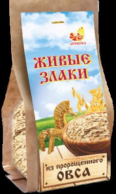Хлопья пророщеные ОВСЯНЫЕ п/п 300гр (Дивинка)