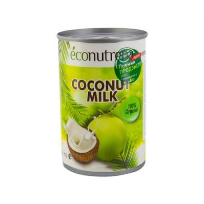 Молоко КОКОСОВОЕ органическое 17% 400мл (Econutrena)