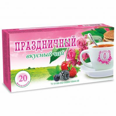 Чайный напиток ПРАЗДНИЧНЫЙ ВКУСНЫЙ 20ф/п (Фитоцентр Гордеева)