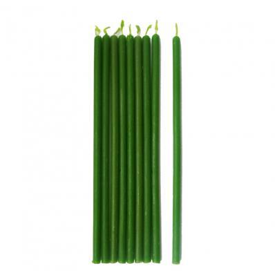 Свеча из ПАРАФИНА зеленая 19см (Магия свечи)