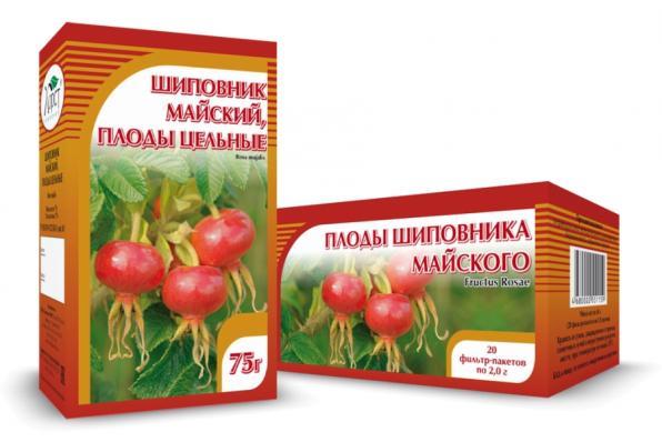 Шиповник майский, плоды 75гр (Хорст)