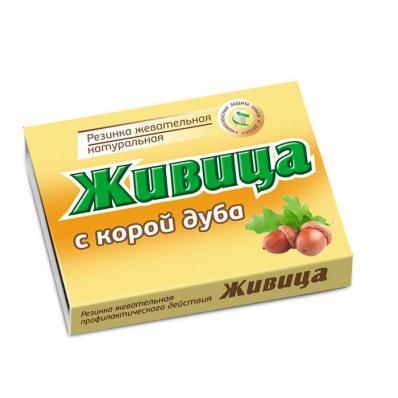 Смолка Жевательная с КОРОЙ ДУБА 5шт по 0,8гр (Алтайский нектар)