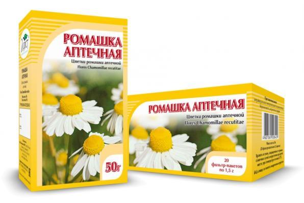 Ромашка аптечная, цветки 50гр (Хорст)