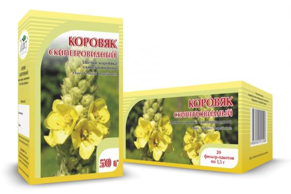 Коровяк скипетровидный, цветки 50гр (Хорст)