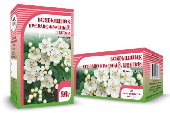 Боярышник, цветки 50гр (Хорст)