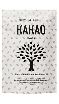 Какао-масло натуральное 200гр (ROYAL FOREST)