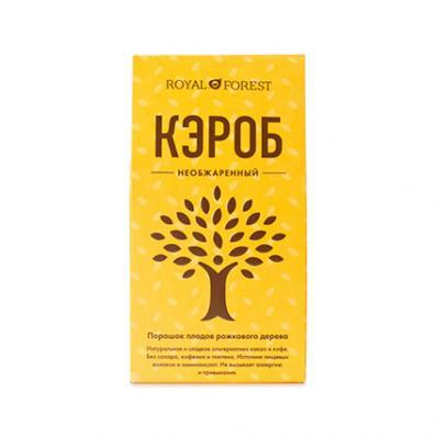 Кэроб НЕОБЖАРЕННЫЙ порошок плодов рожкого дерева 200гр (ROYAL FOREST)
