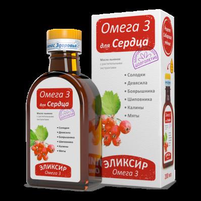 Масло льняное ДЛЯ СЕРДЦА 200мл (Компас здоровья)