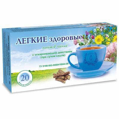 Чайный напиток ЛЁГКИЕ ЗДОРОВЫЕ 20ф/п (Фитоцентр Гордеева)