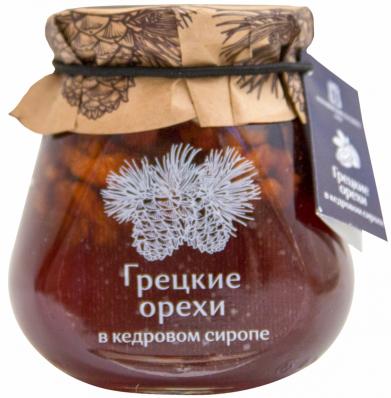 Варенье ГРЕЦКИЕ ОРЕХИ в кедровом сиропе 290гр (Косьминский Гостинец)