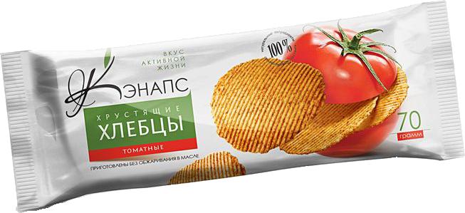 Хрустящие хлебцы С ТОМАТОМ 70гр (Кэнапс)
