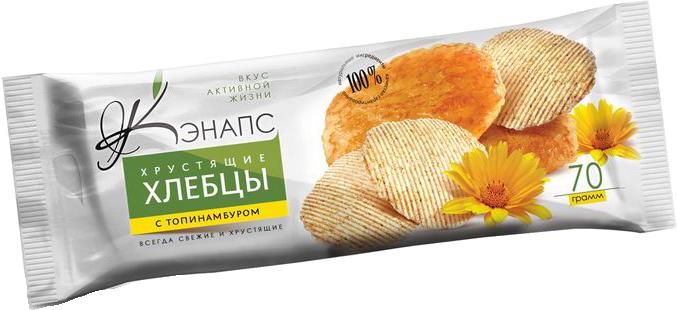 Хрустящие хлебцы С ТОПИНАМБУРОМ 70гр (Кэнапс)