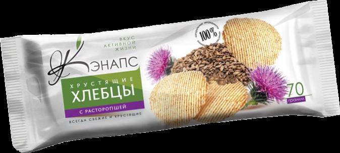 Хрустящие хлебцы С РАСТОРОПШЕЙ 70гр (Кэнапс)