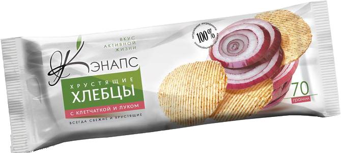 Хрустящие хлебцы С КЛЕТЧАТКОЙ И ЛУКОМ 70гр (Кэнапс)