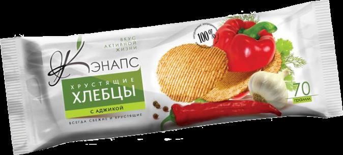 Хрустящие хлебцы С АДЖИКОЙ 70гр (Кэнапс)
