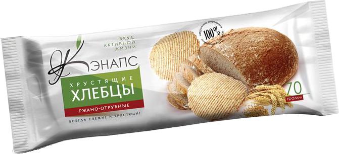 Хрустящие хлебцы РЖАНО-ОТРУБНЫЕ 70гр (Кэнапс)
