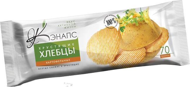 Хрустящие хлебцы С КАРТОФЕЛЕМ 70гр (Кэнапс)