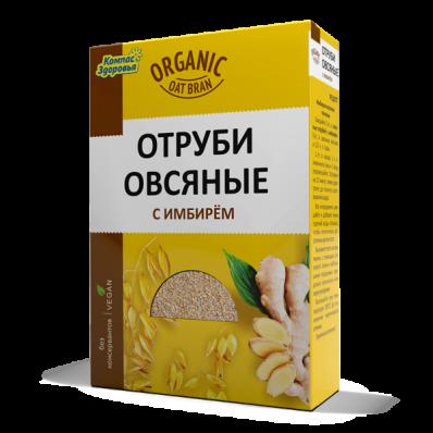 Отруби овсяные С ИМБИРЕМ 200гр (Компас Здоровья)