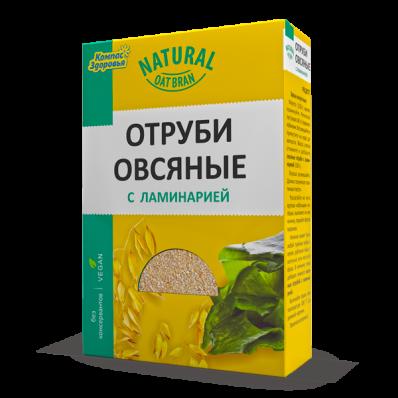 Отруби овсяные с ЛАМИНАРИЕЙ 200гр (Компас Здоровья)