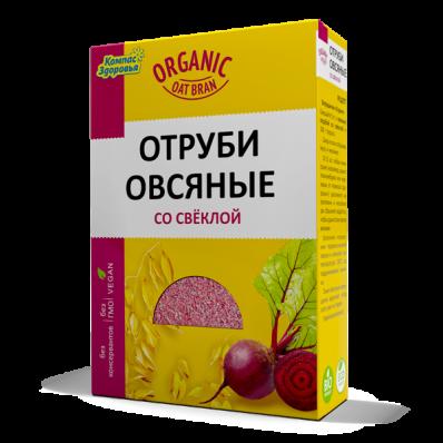 Отруби овсяные СО СВЁКЛОЙ 200гр (Компас Здоровья)
