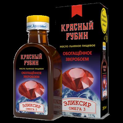 Масло льняное КРАСНЫЙ РУБИН 200мл (Компас Здоровья)