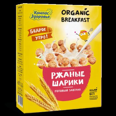 Готовый завтрак РЖАНЫЕ ШАРИКИ 100гр (Компас здоровья)