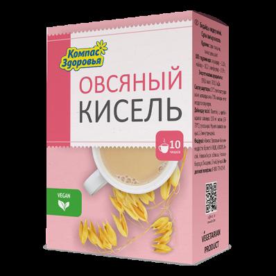 Кисель овсяно-льняной ОВСЯНЫЙ 150гр (Компас Здоровья)