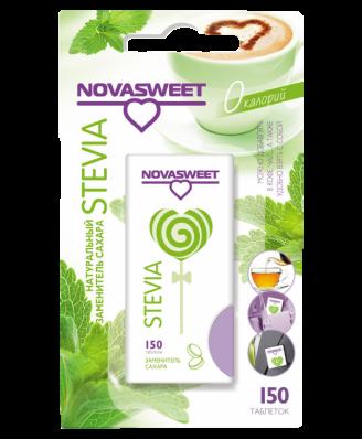 Заменитель сахара СТЕВИЯ 150табл (Novasweet)