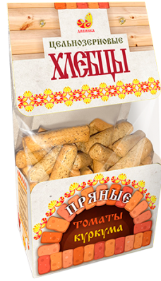 Хлебцы цельнозерновые ТОМАТ КУРКУМА 220гр (Дивинка)