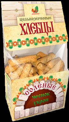 Хлебцы цельнозерновые УКРОП ЧЕСНОК 220гр (Дивинка)